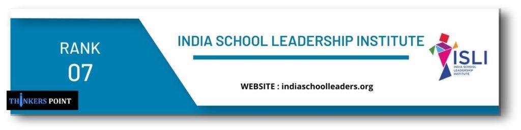 rank 7 top leadership institute in banglore